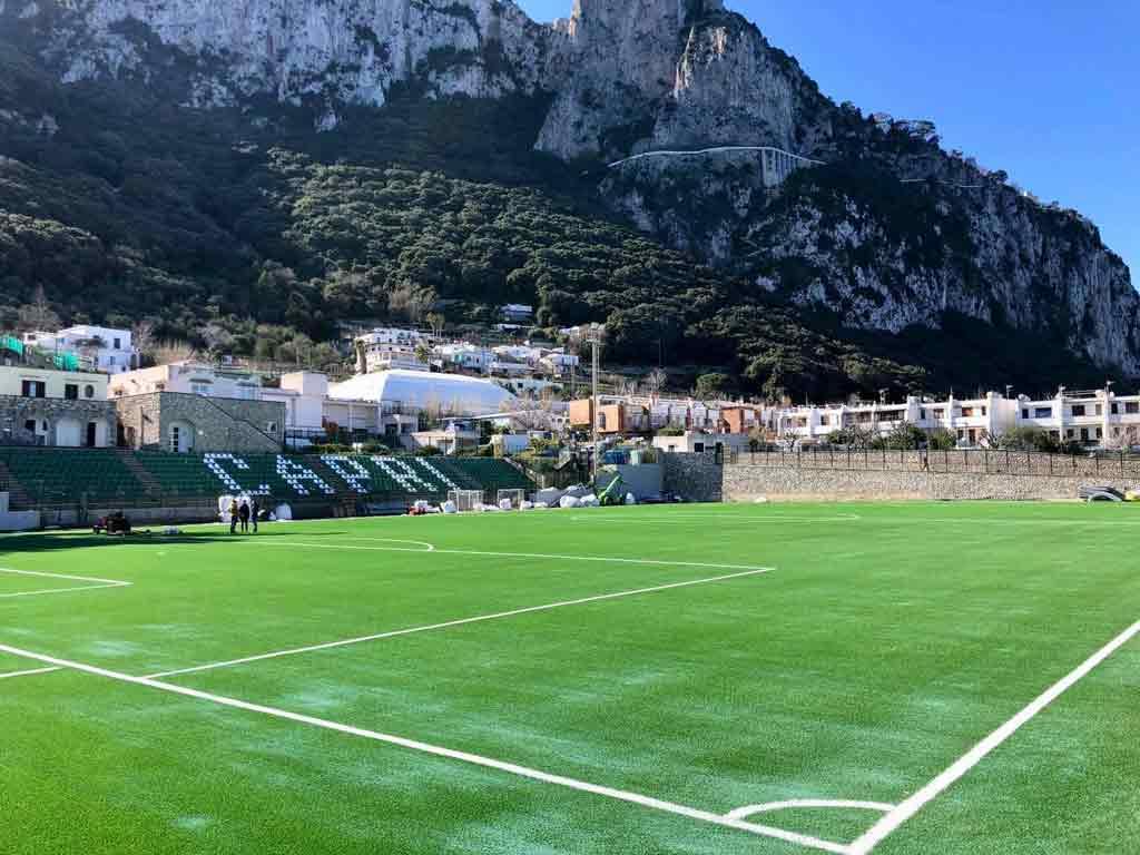 Inaugurazione campo sportivo a Capri